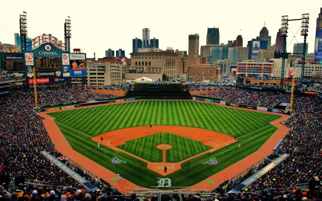 Party Bus to Detroit Tigers Game for Opening Day by Varsity Limousine Services
