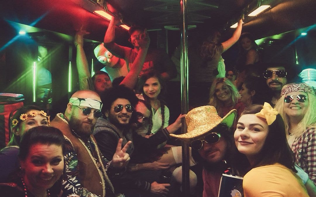 halloween party bus rental for Haunted Houses