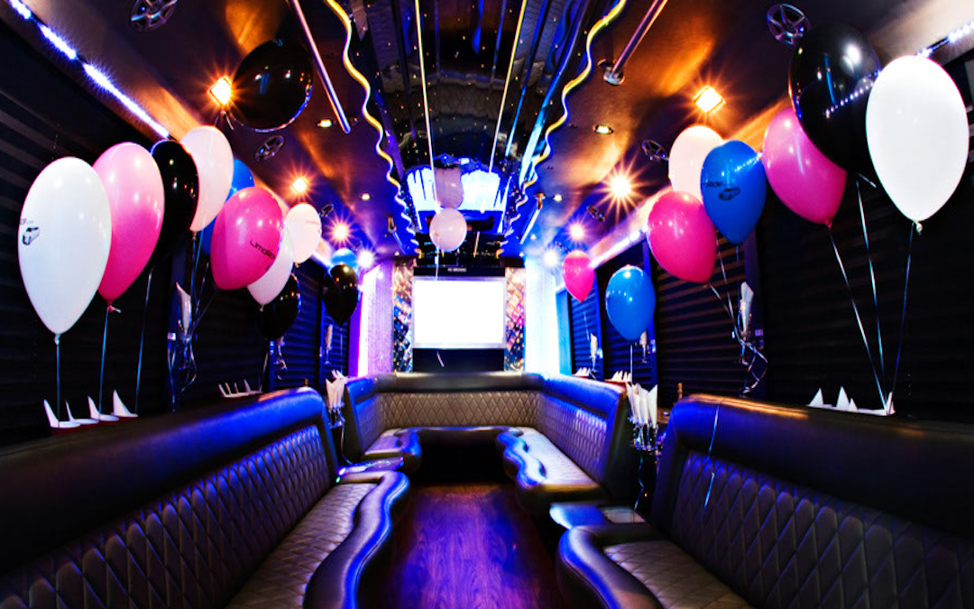 Birthday Party Bus Rental Interior